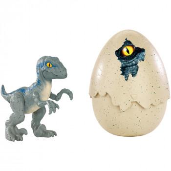 "Jurassic World Hatch 'n Play Dinos Velociraptor ""azul""-887961569230-0"