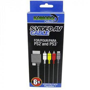 KMD 6 Pies de S - Video a RCA AV Cable Para Sony PlayStation 1 /2-892044001460-0