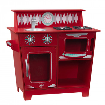 KidKraft de Madera Clásico Juego de fantasía de Cocina Cocina de Juguete para Niños - Rojo -706943533628-0