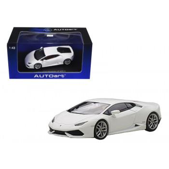 Lamborghini Huracan LP610-4 Blanco Mate / Bianco Canopus 1/43 Diecast Modelo de Coche por Autoart-710828936336-0