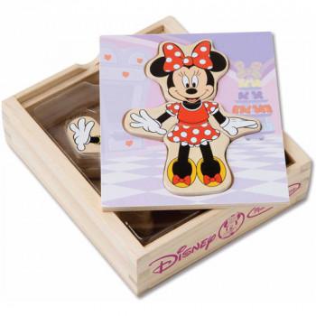Melissa & Doug Disney Minnie Mouse madera Mix y Match Dress-Up-000772057929-0