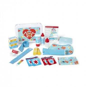 Melissa & Doug Get Well First Aid Kit Play Set (25 piezas de juguete) --000772306010-0