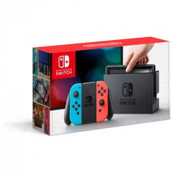 Nintendo de la Consola del Conmutador de Neón de color Azul Y Rojo de la Alegría-Con, 045496590093-045496590093-0