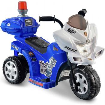 Niño Motorz Lil' patrulla 6 voltios baterías Ride-On, azul y blanco-615266002868-0