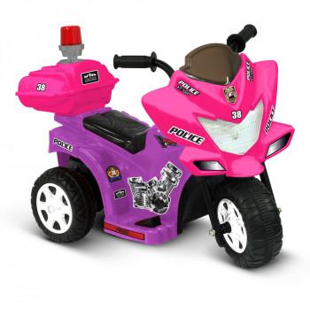 Niño Motorz Lil' patrulla 6 voltios baterías Ride-On, morado y rosa-615266002875-0
