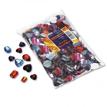 Paquete de clase de piedras preciosas del chenille Kraft, acrílico, 1 lb, surtido de colores/tamaños-021196035843-0