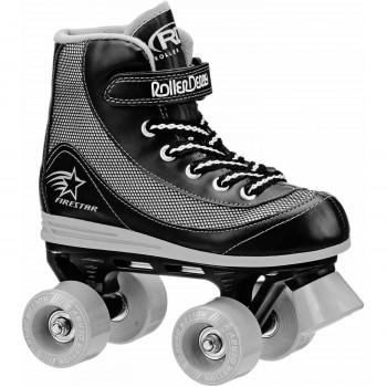 Patines Roller Derby niños para fuego-estrella Quad, negro y gris-049288013784-0
