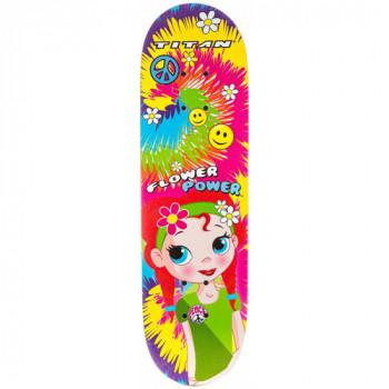 """Patín completo 28"""" Titan flor poder princesa niñas, varios colores-725103920627-0"""