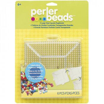 Perler divertida fusión grano Pegboards, 4-Pack, claro Plaza-048533226665-0