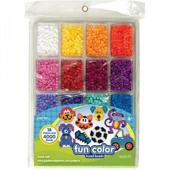 Perler divertida fusión granos, paquete de 4000, Color de la diversión-048533175130-0