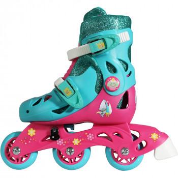 Playwheels Trolls Convertible 2 en 1 para Niños de Skate, Tamaño Junior 6-9-085955124100-0