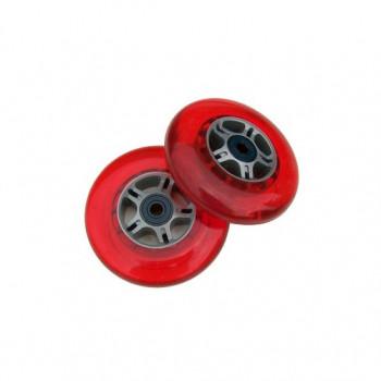 ROJO 2 ruedas W/Abec 7 rodamientos de RAZOR SCOOTERS 100mm-63PLUWdm3974-0