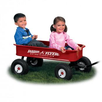 Radio Flyer Wagon ATW clásico rojo grande-042385907390-0