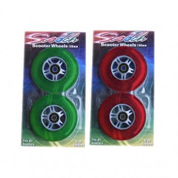 Reemplazo de maquinilla de afeitar de 4 nuevo ruedas de SCOOTER 2 verde 2 rojo-61PLUWdo0996-0