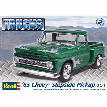Revell a Escala 1:25 '65 Chevy Stepside de Recogida 2-en-1 Kit de Modelo-031445072109-0