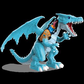 Robo Vivo Rugido de Dragón de Hielo Batería de Robótica de Juguete por Zuru - Real lor: azul-193052003652-0
