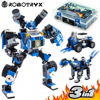 Robot STEM Toy | 3 en 1 divertido juego creativo | Juguetes de construcción para niños de 6 a 14 años de edad | El mejor regalo de juguete para niños | Kit de póster gratuito incluido - Color real: azul-635983088587-0