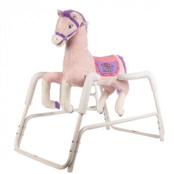 Rockin ' jinete hablando Lacey Deluxe Primavera rosa de felpa caballo, animado-650770800708-0