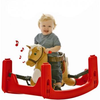 Rockin ' jinete legado crecer conmigo Pony Ride-On, eje de balancín, gorila Convertible a caballo de la primavera-650770800685-0