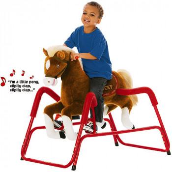 Rockin ' jinete suerte la felpa Deluxe hablando animados caballo primavera-650770800463-0
