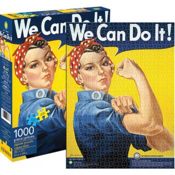 Rosie la Remachadora 1000 piezas de puzzle, Patriótica por RMN Calendarios-840391105348-0