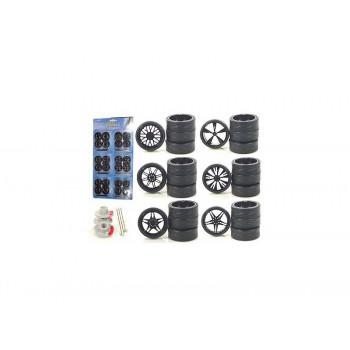 Ruedas personalizadas para 1/18 Escala de los Coches y Camiones 24pc Ruedas Y Neumáticos-706752496992-0