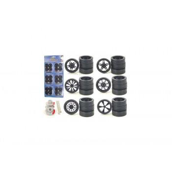 Ruedas personalizadas para Escala 1/24 de Coches y Camiones 24pc Ruedas Y Neumáticos-706752496985-0