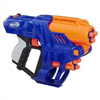 Solo en: Nerf Elite Shellstrike DS-6 Blaster --630509853885-0