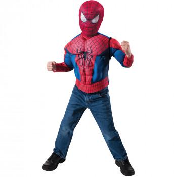 Spider-Man musculado pecho niño traje rol Play Set-082686360906-0
