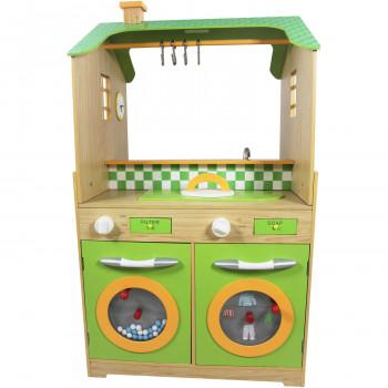 Teamson Niños - Verde de la Cocina con dos Arandelas Conjunto-812401016791-0