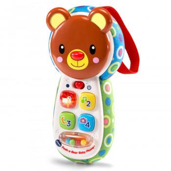 VTech Peek-a-Bear Bebé de Teléfono Con el Peek-a-Boo Espejo - -131508657-w-0