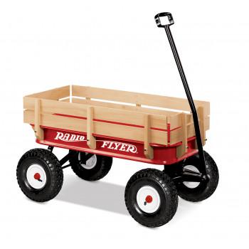 Vagón Radio Flyer todo terreno de madera y acero-042385907758-0