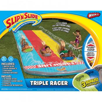 Wham-O Slip ' n Slide Racer Triple con 3 Boogies-032187641219-0