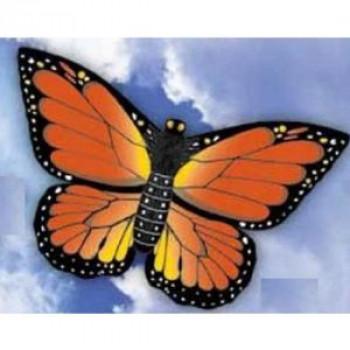 WindnSun De La Mariposa Monarca Nylon Kite-32 Pulgadas De Ancho Multi-Color-843258705026-0