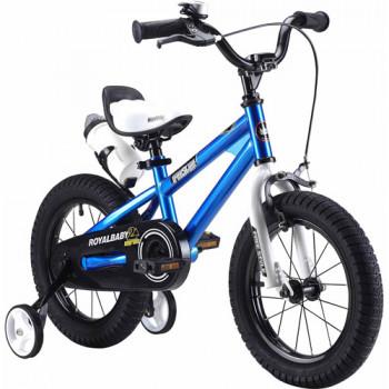 RoyalBaby BMX Freestyle Bicicleta de Niños, Niño de la bicicleta y de la Niña de Bicicletas con ruedas de entrenamiento, Regalos para los niños de 16 pulgadas, llantas, Azul-43280276-RB16B-6-w-0