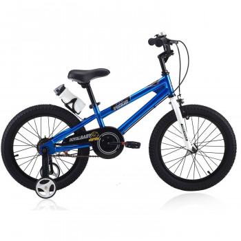 RoyalBaby BMX Freestyle Bicicleta de Niños, de 18 pulgadas, en 6 colores, el Niño de la bicicleta y de la Niña de Bicicletas con ruedas de entrenamiento, los Regalos para los niños de 18 pulgadas, llantas, Azul-43280282-RB18B-6-w-0