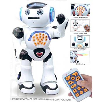 Top Race Control Remoto de Pie Hablando Robot de Juguete, Baila, Canta, Lee Cuentos, Concurso de Matemáticas, el Rodaje de Discos, y la Voz de la Imitación.-819116020129-A-0