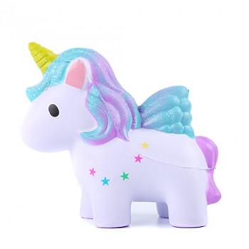 Aolige Squishies Aumento Lento Jumbo Kawaii Lindo Unicornio de Color Cremoso Aroma para fiestas infantiles Juguetes para aliviar el Estrés de Juguete-694090880903-A-0