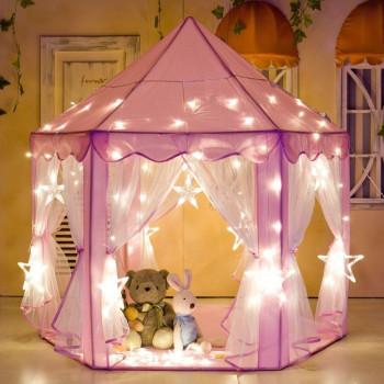 """e-Joy Carpa Castillo de princesa de hadas para interiores / exteriores, 55 """"x 53"""" Rosa --765095318286-0"""