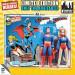 Superman y Supergirl muñecos Retro azul tarjeta DC-728028345186-0